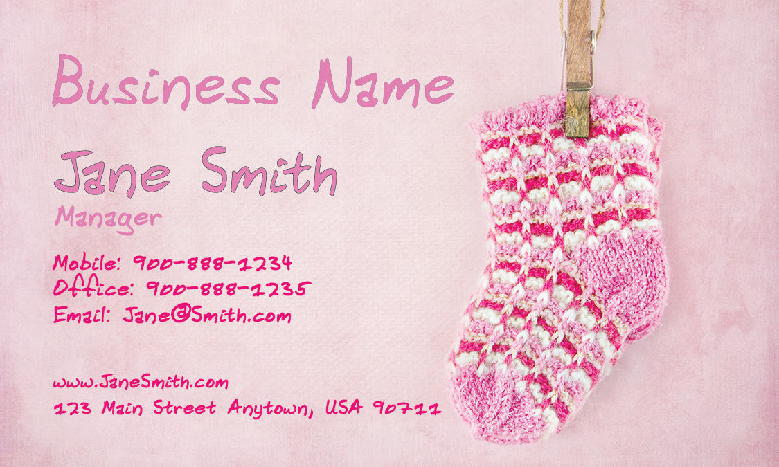 Nanny Business Card - Design #1101011 - baby sitting cards