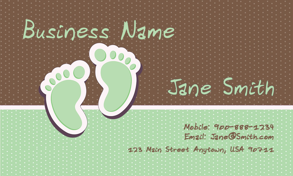 Child Care Business Cards Babysitting Templates - baby sitting cards