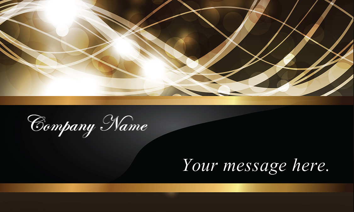 Effect Gold and Black Event Planner Business Card - Design #701191 - event card template
