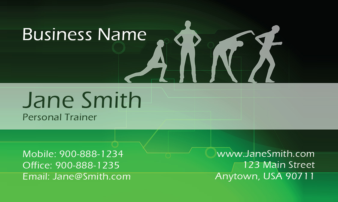 Group Classes Sport Fitness Business Card - Design #801151