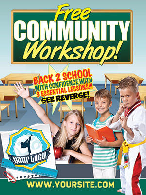 Back to School Ad Cards and Flyers on Printing Dojo