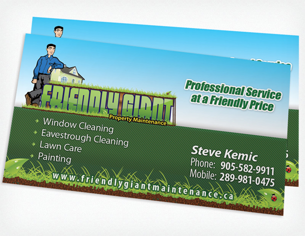 Business Card Printing USA, Order Business Cards Cheap - lawn care business cards