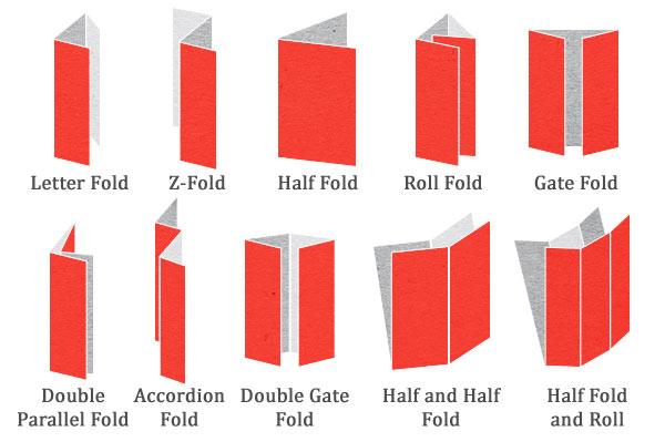 Printing Peach Brochures Folding Diagrams