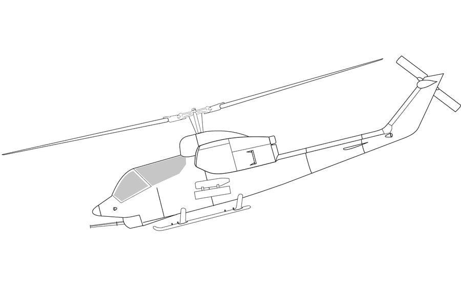 Disegni Da Colorare Elicottero Stampabile Gratuito Per