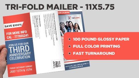 trifold mailer - Pinarkubkireklamowe