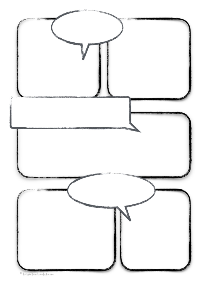 comic strip - Page 1 - Free Teaching Resources - Print Play Learn - comic strip template