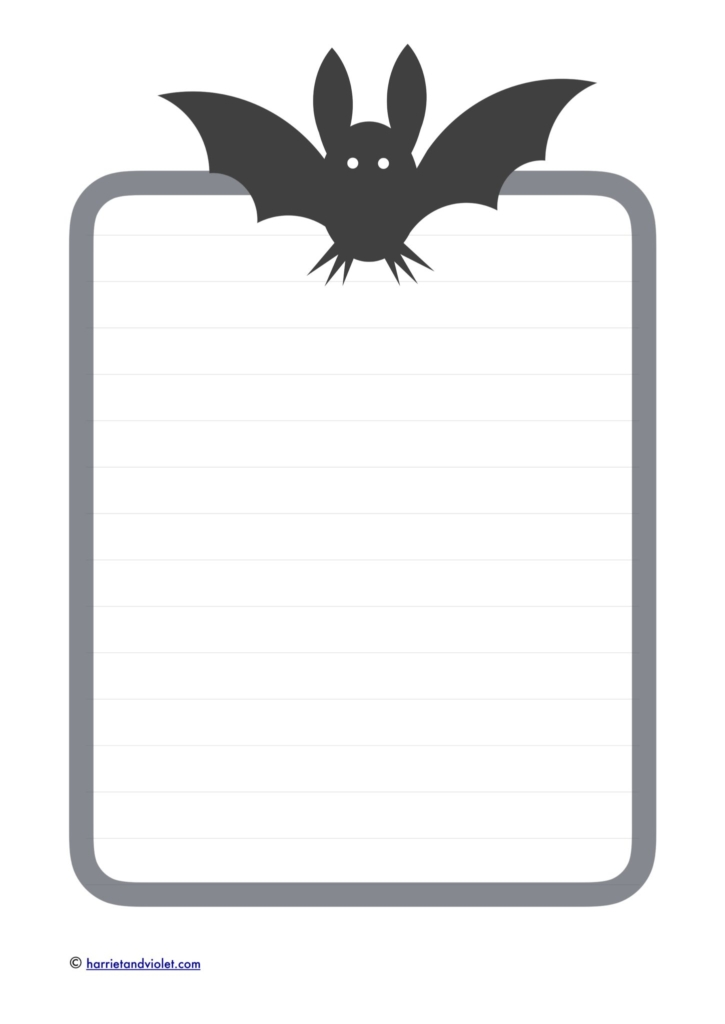 Bat border paper - plain, lined and half lined - Free Teaching