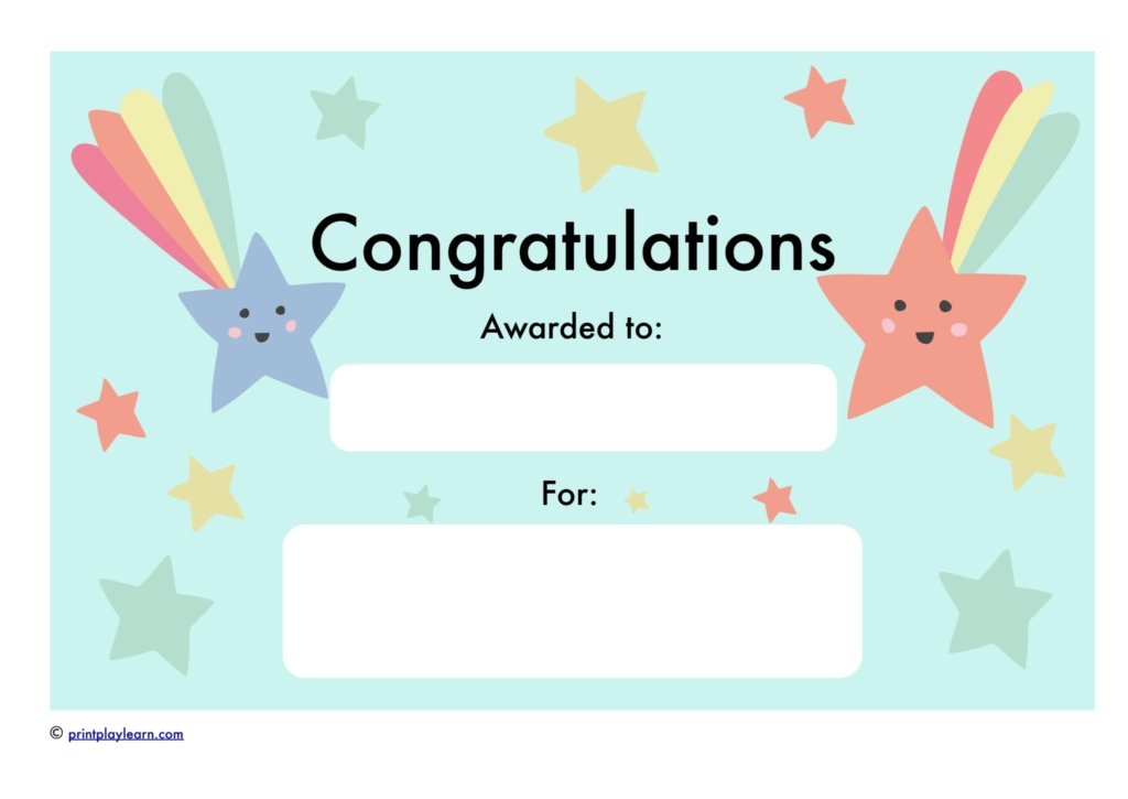 Congratulations Certificate - Free Teaching Resources - Print Play Learn - congratulations certificate