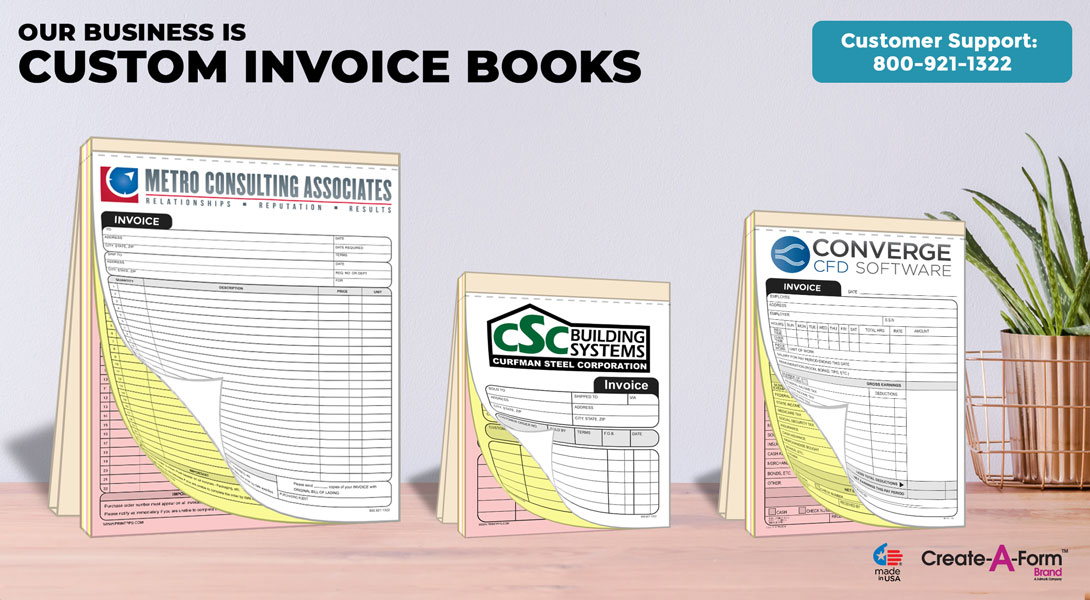 NCR Invoice Receipt Books 55\