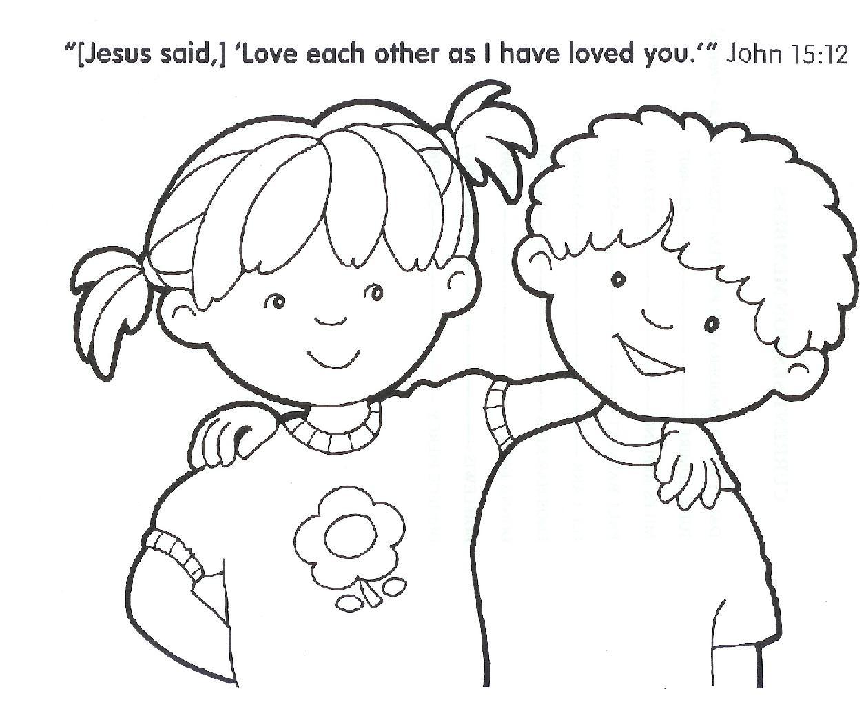 Christian Coloring Page - Eskayalitim