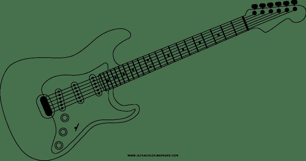 Chitarra Elettrica Disegni Da Colorare