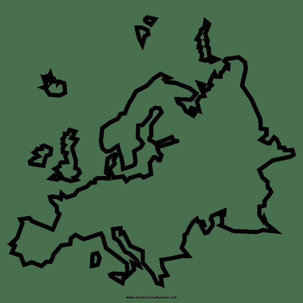 Europa Disegni Da Colorare