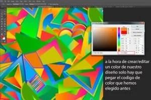 Pegar codigo color