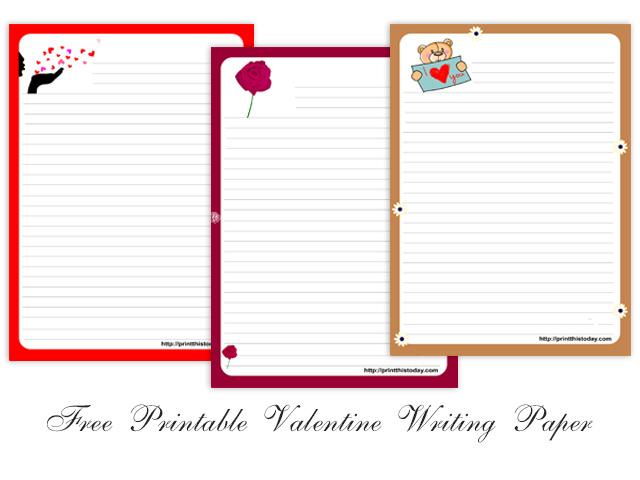Free Printable Valentine Writing Paper Stationery