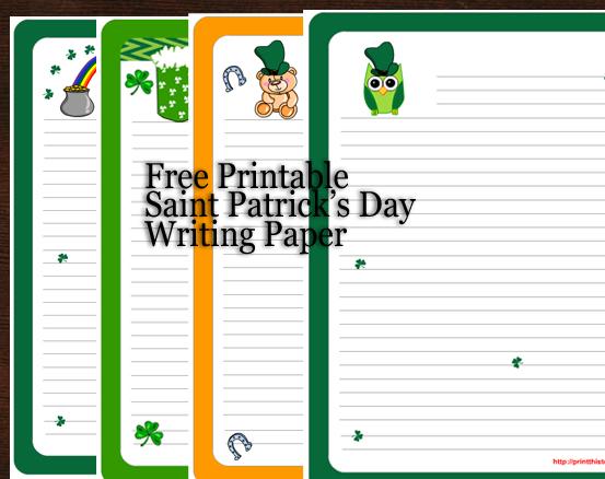 Saint Patrick\u0027s Day Writing Paper {Free Printable}