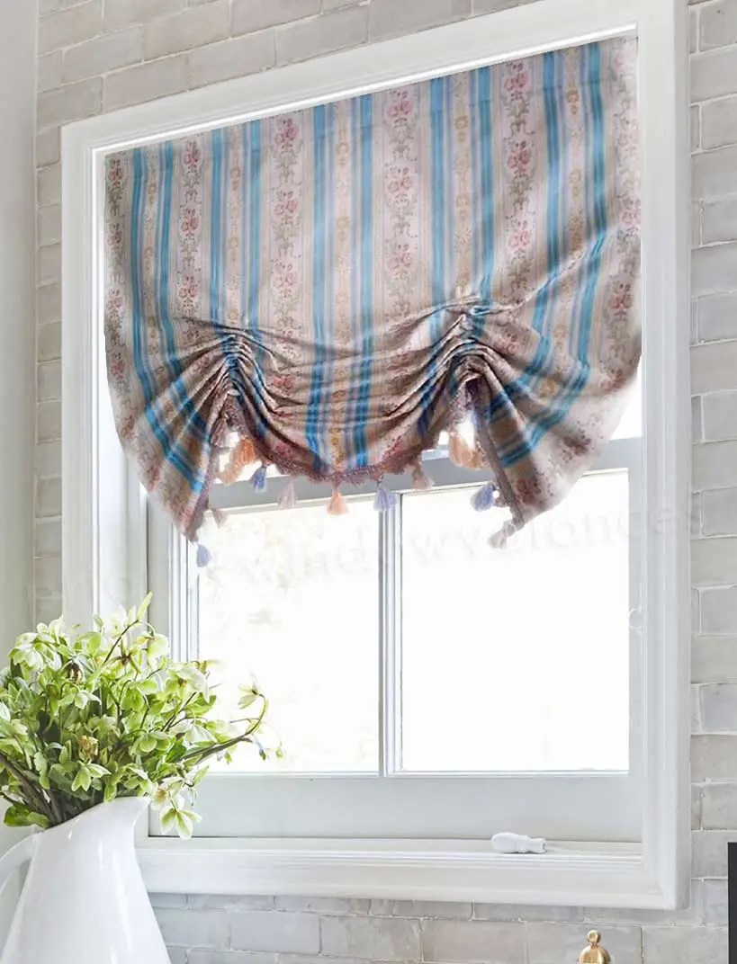 Strickliesel Lorch Kitchen Valances In Blue