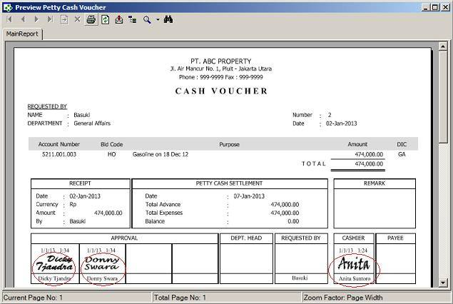 PrismaSoft \u2013 Multi Petty Cash System PrismaSoft Indonesia