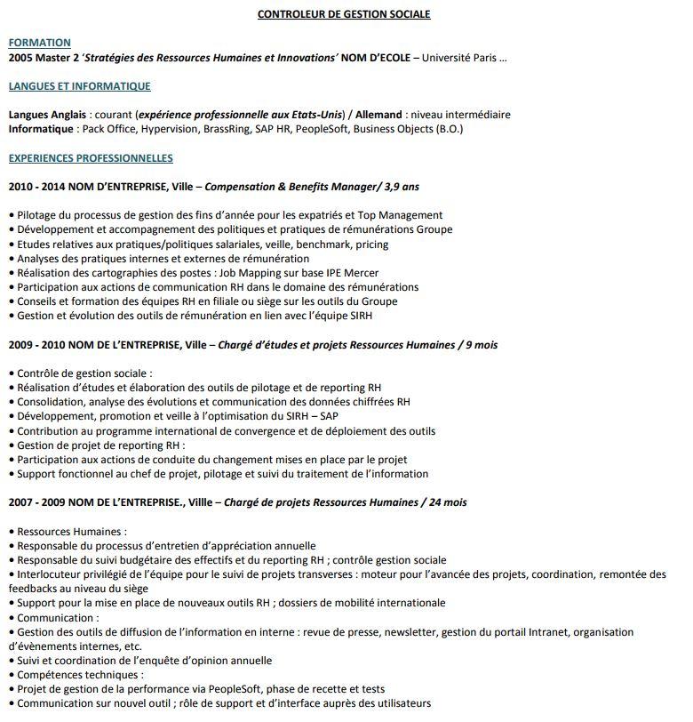 liste competences experience professionnelles pour cv