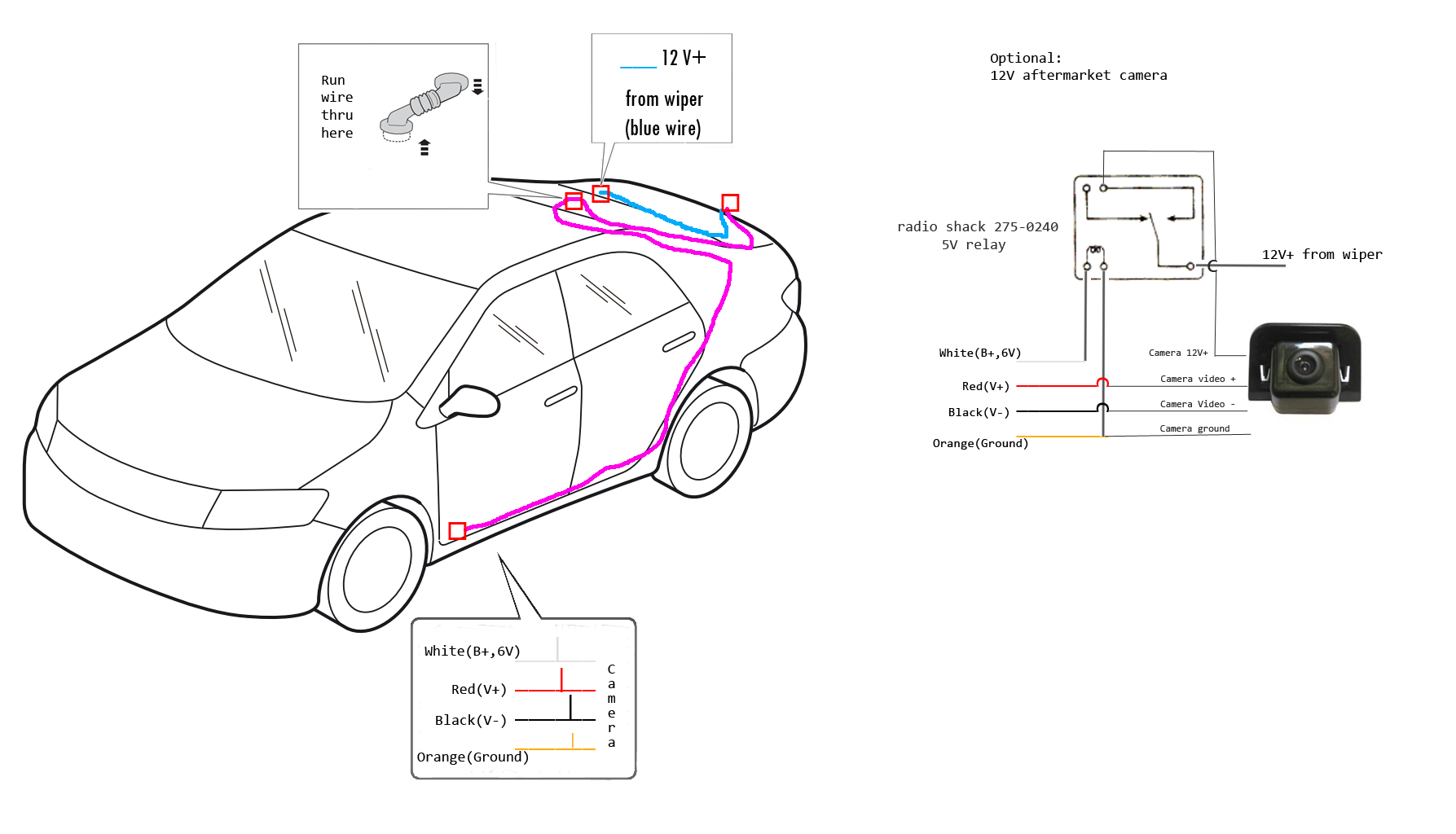 prius backup camera wiring diagram
