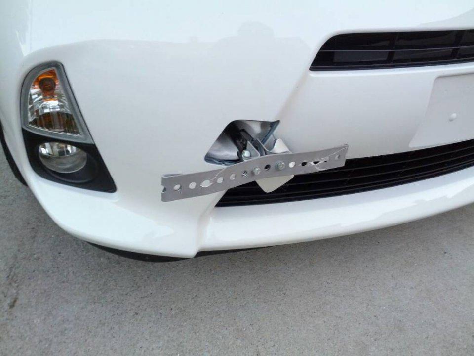License Plate Diy Tow Hook Mount Pics Priuschat