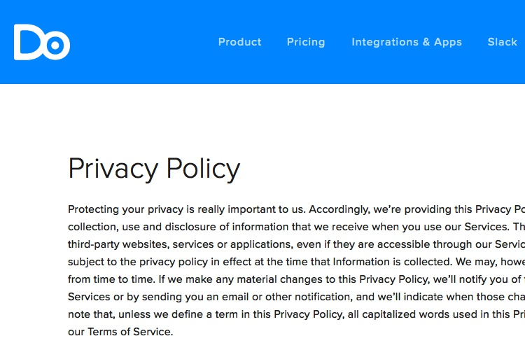Privacy Policy Template + Generator - Free - 2018 - privacy notice template
