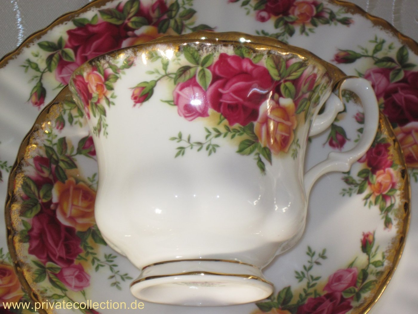 Küche 70er Kaffeegedeck Royal Albert Old Country Roses Bone China Top!