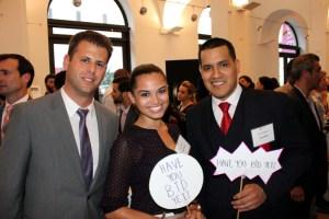 L to R: Guest,Elise Barimo(Volunteer), Jose Campos(volunteer)
