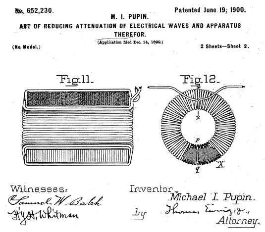 Detail from Pupin's patent.