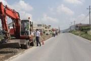 Nis ndërtimi i trotuarit në rrugën e UÇK-së në Rahovec