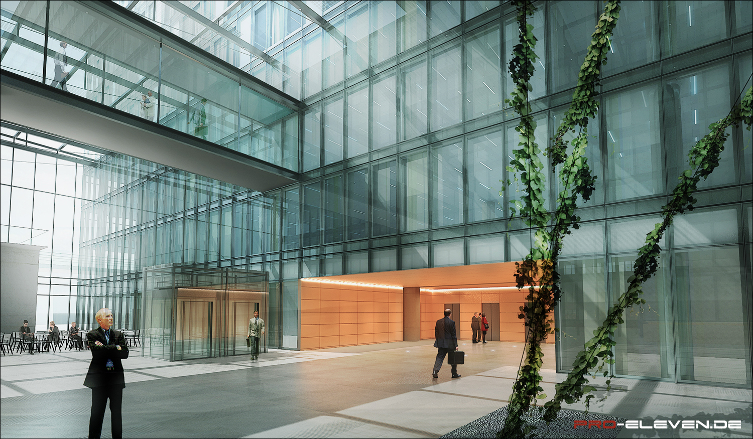 Architektur Rendering Wien Projekte Innenraum Office Center Rivergate Wien Pro