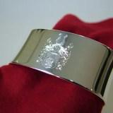 Serviettenring Silber mit Wappengravur