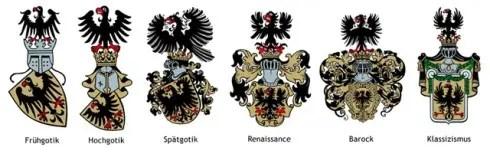 Der Wandel eines Wappens über 6 Epochen