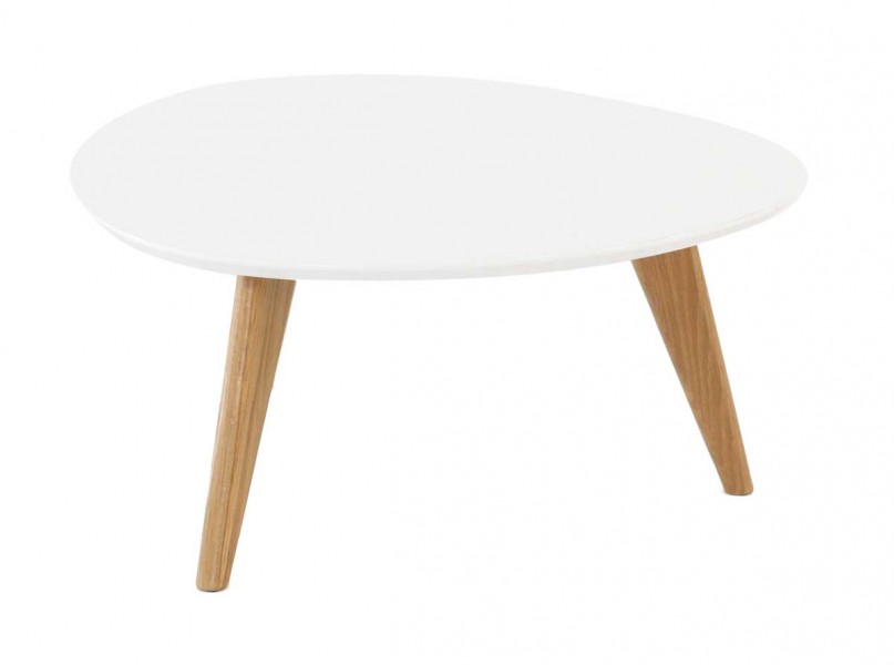 Zago Meuble Tv Table Basse Blanche Pixy