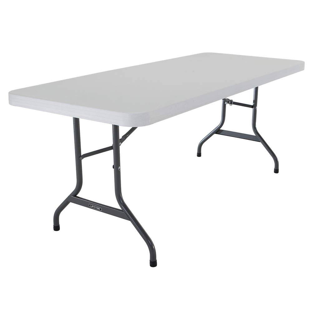 Table Rectangulaire 8 Personnes Table Pliante Rectangulaire 183cm Blanc 8 Personnes Table
