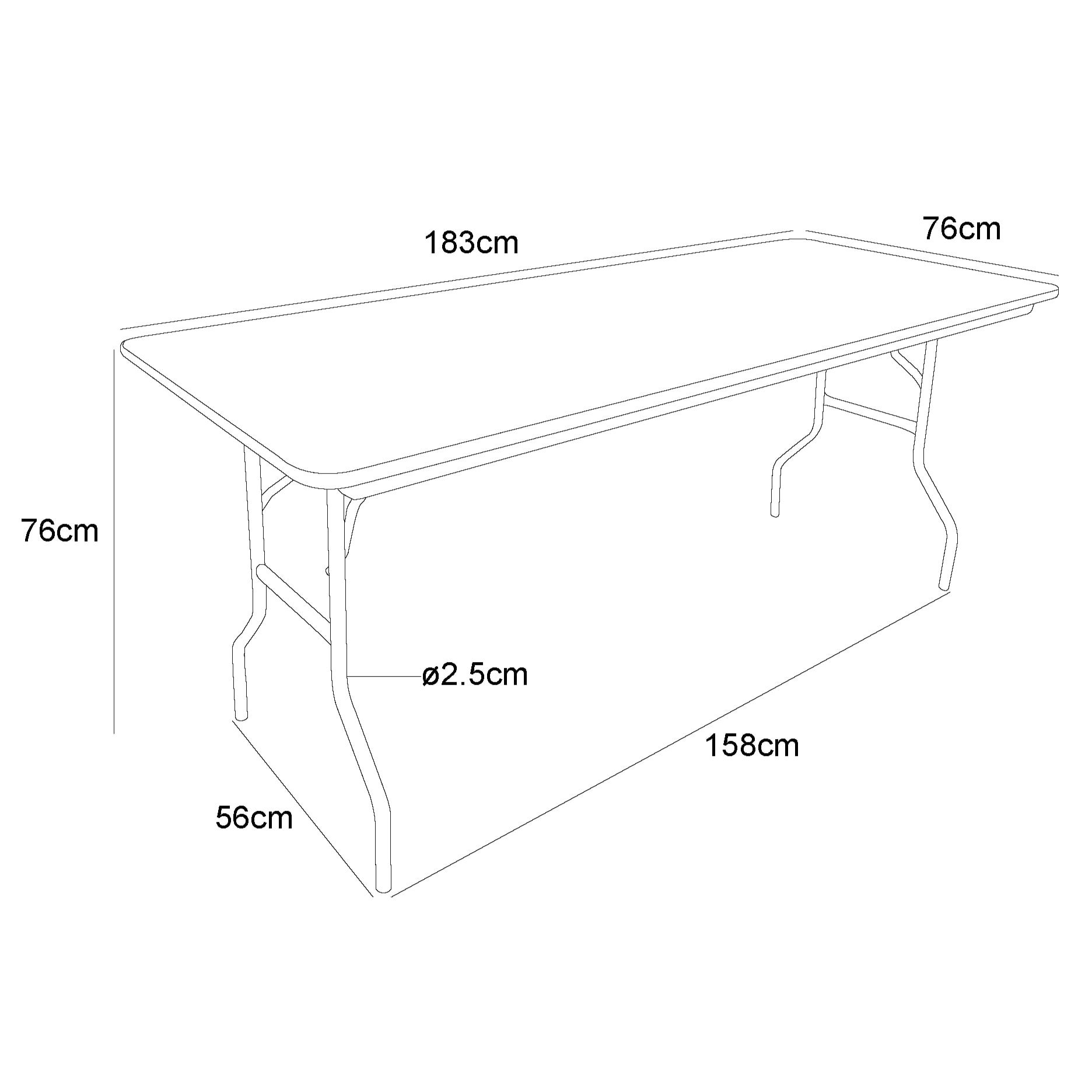 Table Pliante Multi Usage Table Pliante Rectangulaire Traiteur 183cm 8 Personnes Table