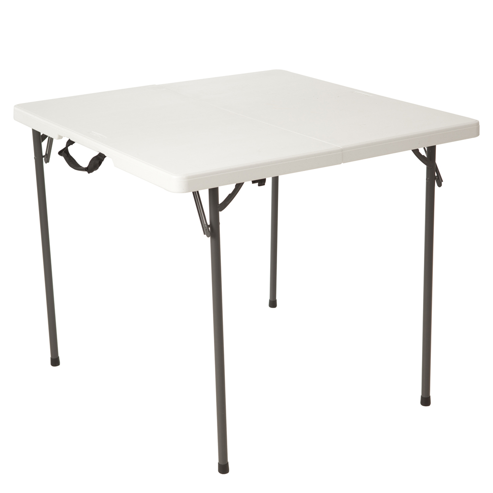 Table Valise + 4 Tabourets Table Pliable En 2 Valise Carrée 86cm 4 Personnes Table