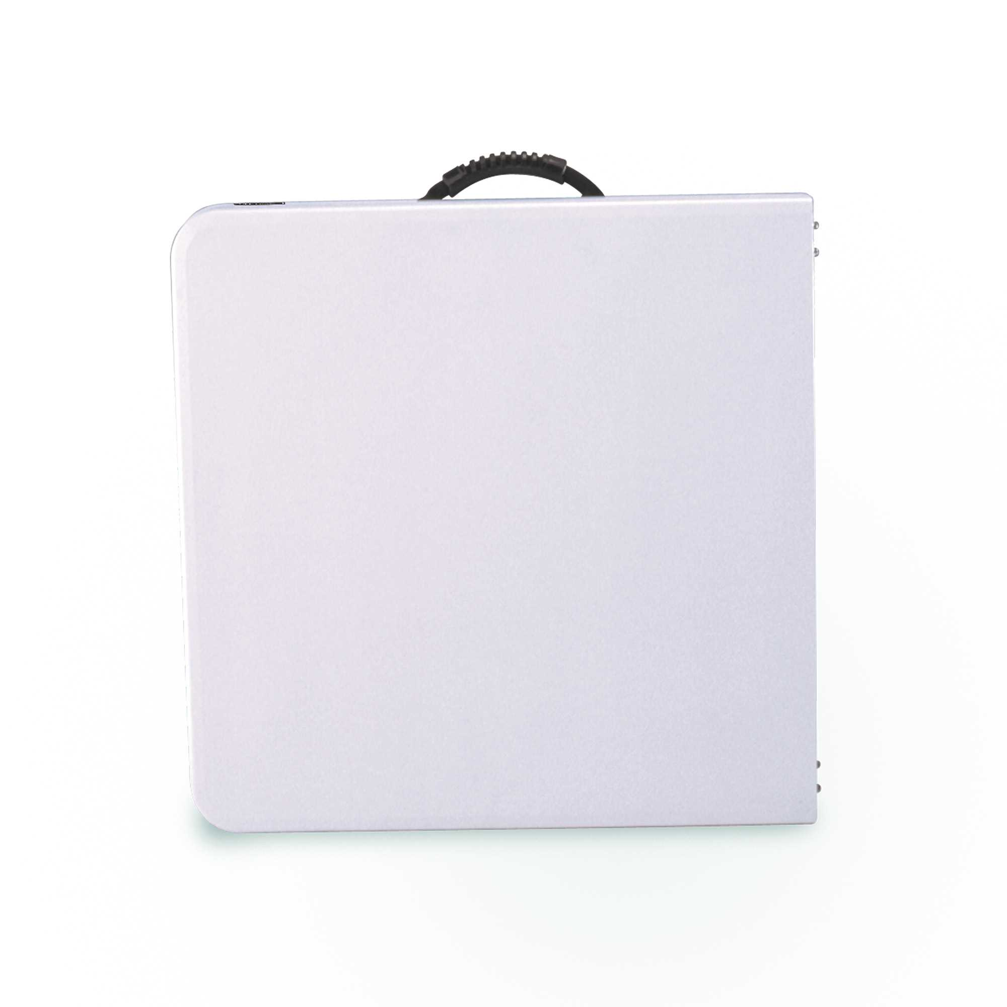 Table Valise + 4 Tabourets Table Pliable En 2 Valise Ajustable Rectangulaire Blanc 122cm