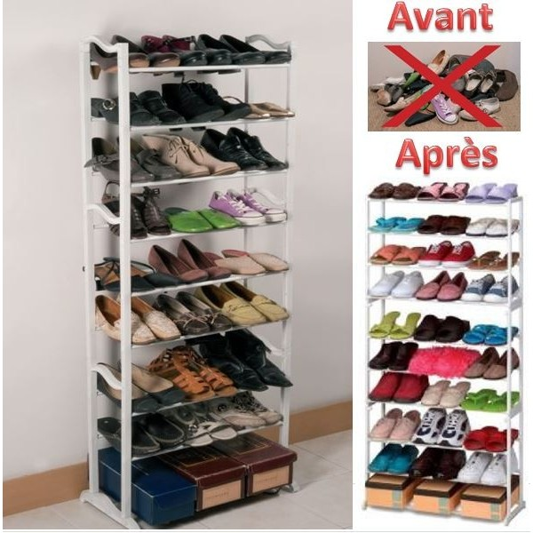 Meuble Chaussure 100 Paires Meubles Rangement Chaussures