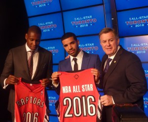 Ujiri, Drake, Leiweke All-Star Jersey