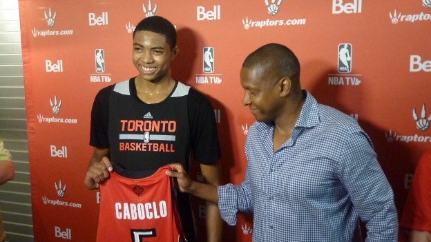 Caboclo and Ujiri smiles