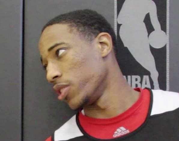 DeMar DeRozan interview by Paul Saini (Fylmm.com) cropped
