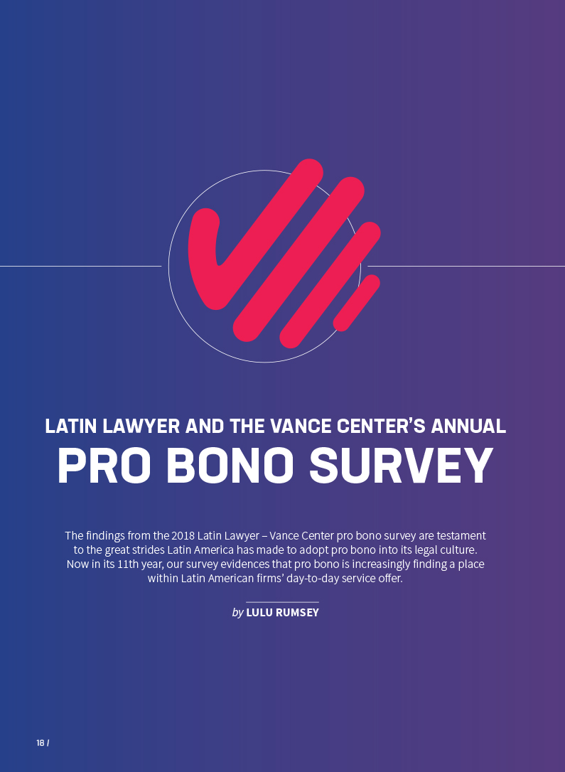 Hogan Lovells Bstl Latin Lawyer And The Vance Center S Annual Pro Bono Survey