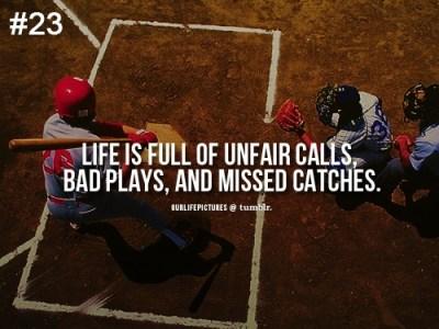 Life is Like Baseball | Think Positive, Be Positive