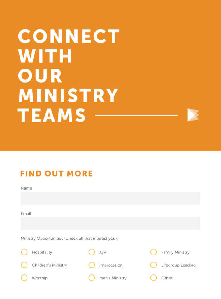 7 Perfect Church Connection Card Examples - Pro Church Tools