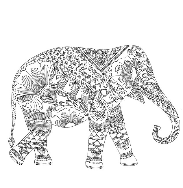 Download Elephant Coloring Pages For Adults - best of indian tribal coloring pages