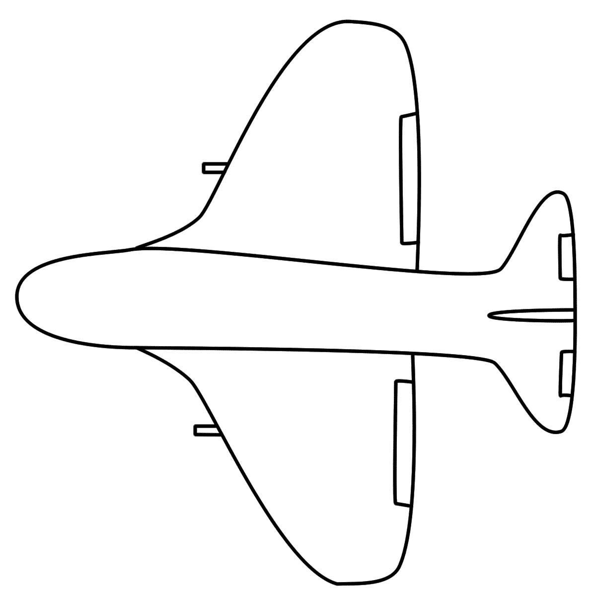 Coloring page 747 - Download Simple Airplane Coloring Page