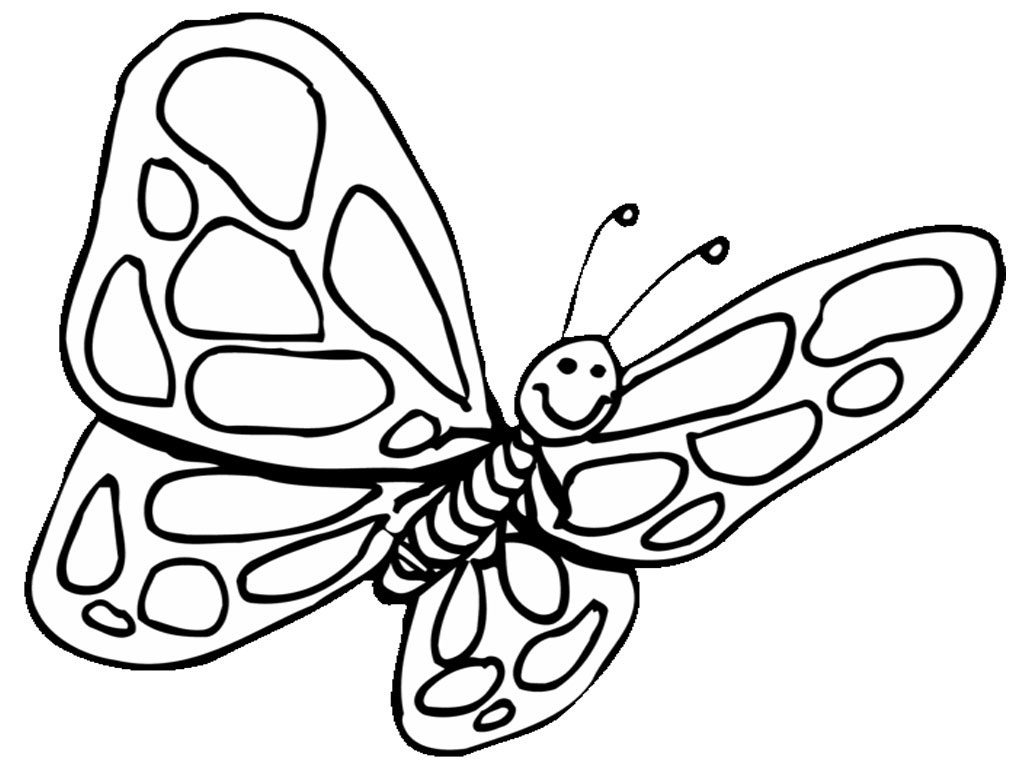 Coloring pages preschool - Butterfly Coloring Pages For Preschool Butterfly Coloring Pages For Toddlers