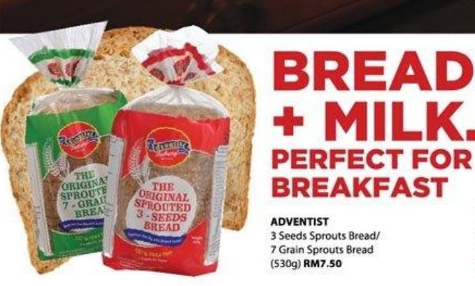 Cold Storage Adventist 3 Seeds Sprouts Bread 7 Grain