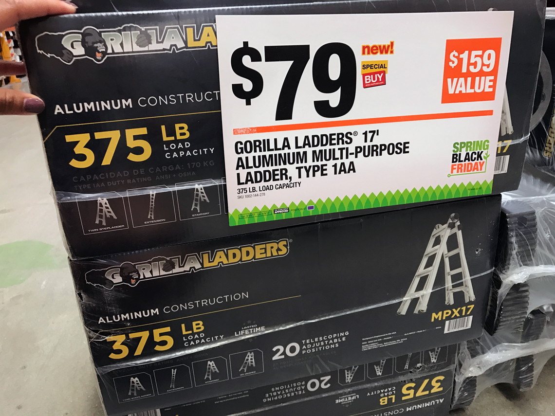 20' Ladder Home Depot Gorilla Ladders 17 Telescoping Multi Position Ladder Only