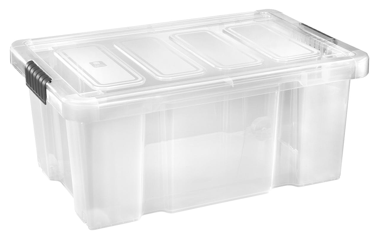 Tarrington House Clear Box Mit Deckel 45 L Transparent Metro Marktplatz